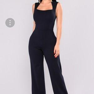 Fashion Nova jumpsuit WINE